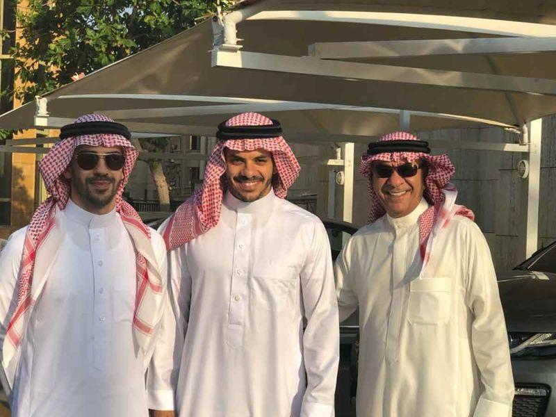 Aziz Al Harbi with Laith and their father in Jeddah saudi Arabia
