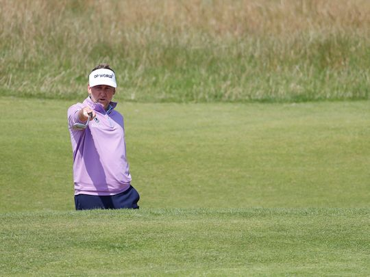 England's Ian Poulter during a practice round for The Open