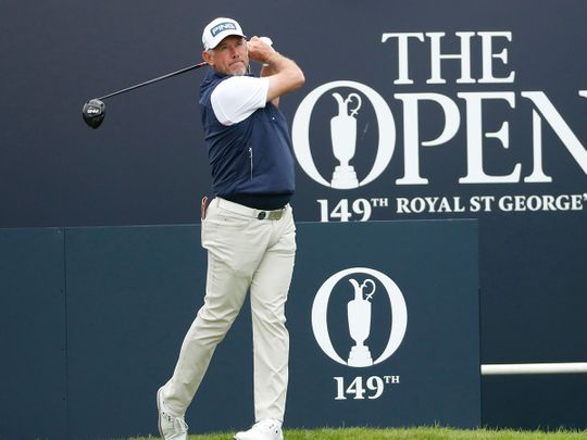 Lee Westwood is in good spirits ahead of The Open