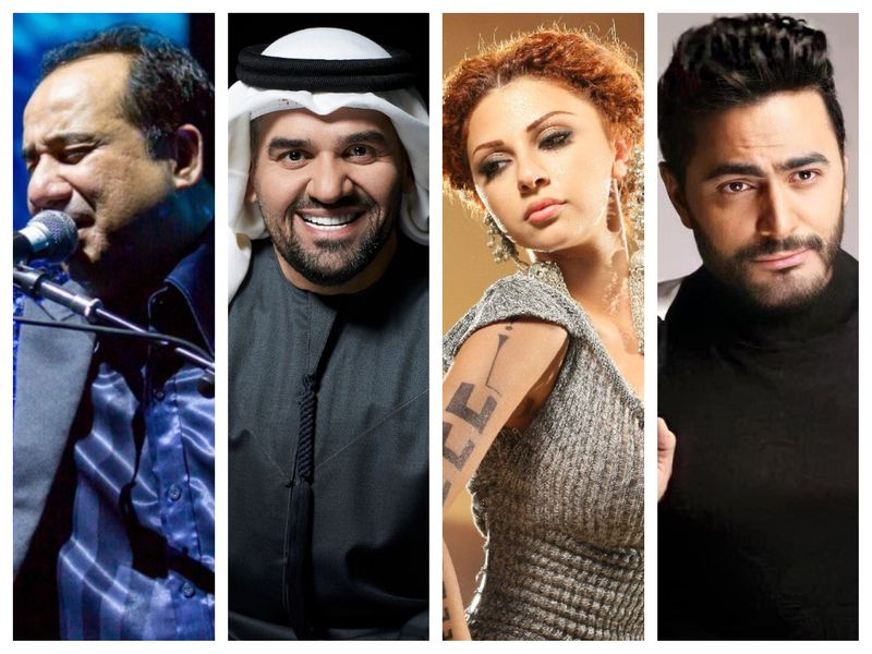 Rahat Fateh Ali Khan, Hussain Al Jassmi, Myriam Fares and Tamer Hosny
