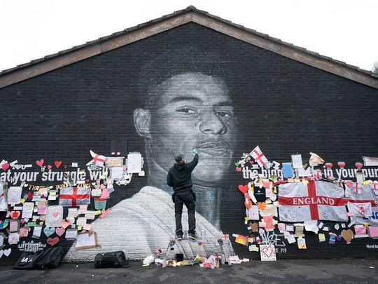 The Marcus Rashford mural and tributes