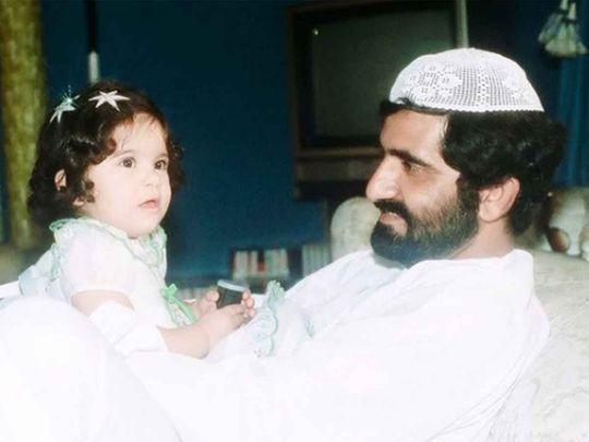 Sheikh Mohammed Bin Rashid with daughter Sheikha Latifa