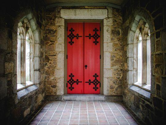 STOCk red doors