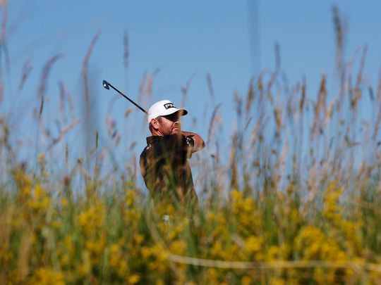 South Africa's Louis Oosthuizen leads the way at the halfway point of The Open