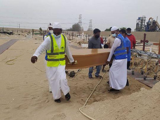 Markaz-ICF-Welfare-Team-volunteers-help-perform-burial-of-Maria-at-Jebel-Ali-cemetery