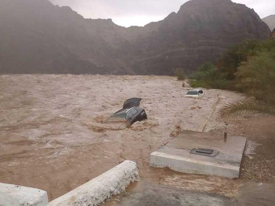 Oman rain floods