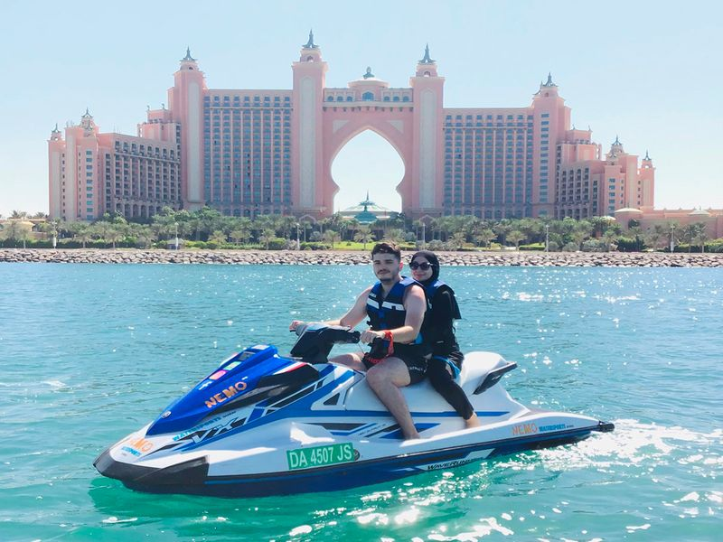 If you are a thrill-seeker at heart, then guests can hop aboard a jet ski with Nemo WaterSports and take to the seas to view some of Dubai's best landmarks