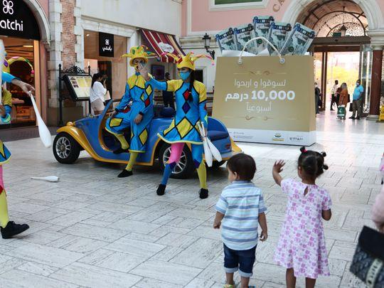 Mercato mall jugglers during Eid Al Adha holiday 2021