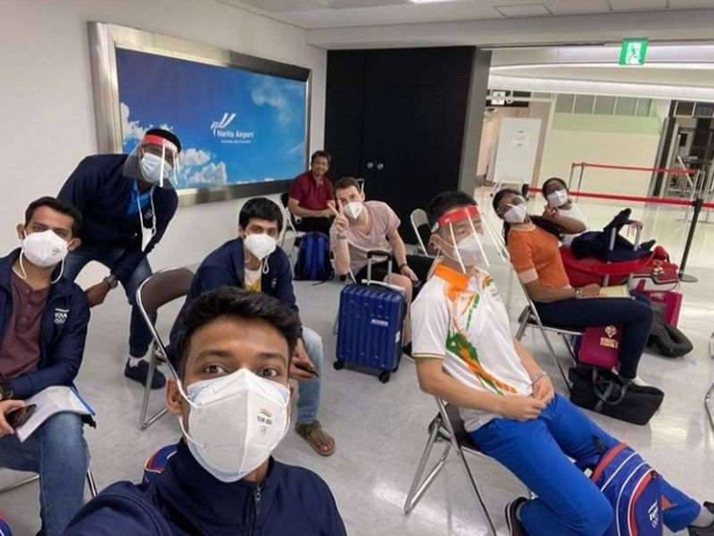 The India badminton team for Tokyo 2020