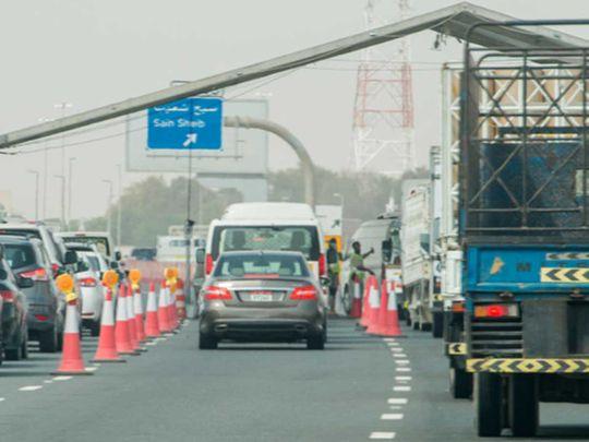 Abu Dhabi border check