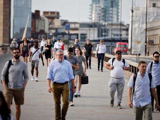 Commuters London Bridge England
