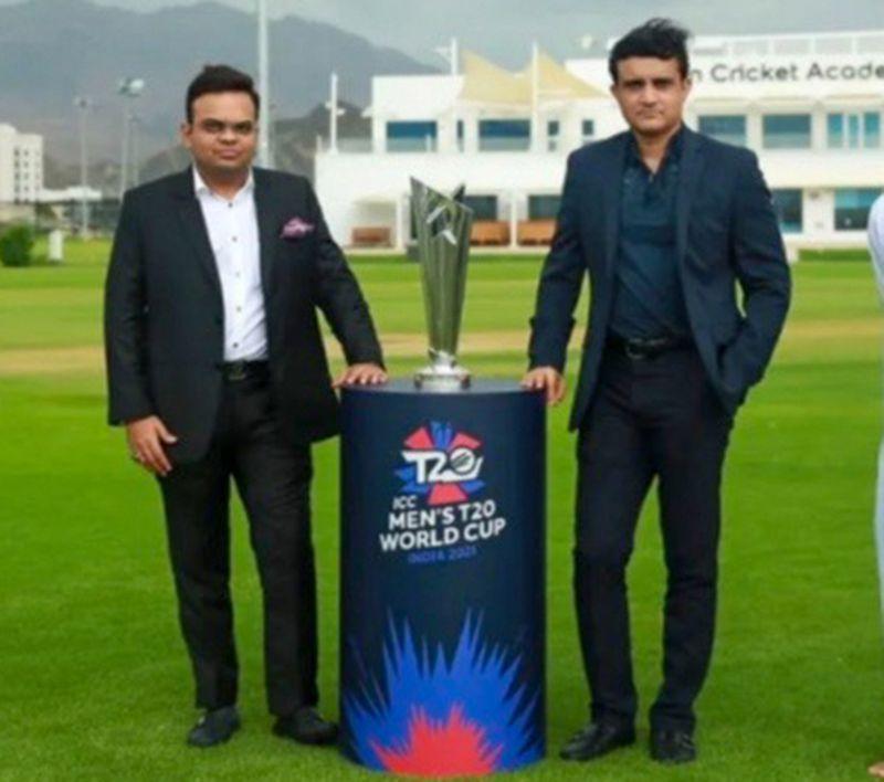 Cricket - Jay Shah (left) & Sourav Ganguly