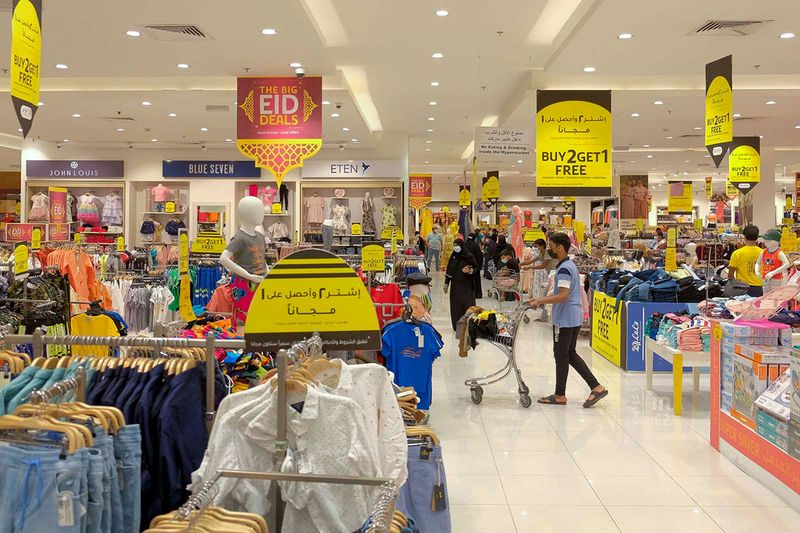 Shoppers at Lulu Shopping Mall at Qusais in Dubai on the occasion of Eid Al Adha.
