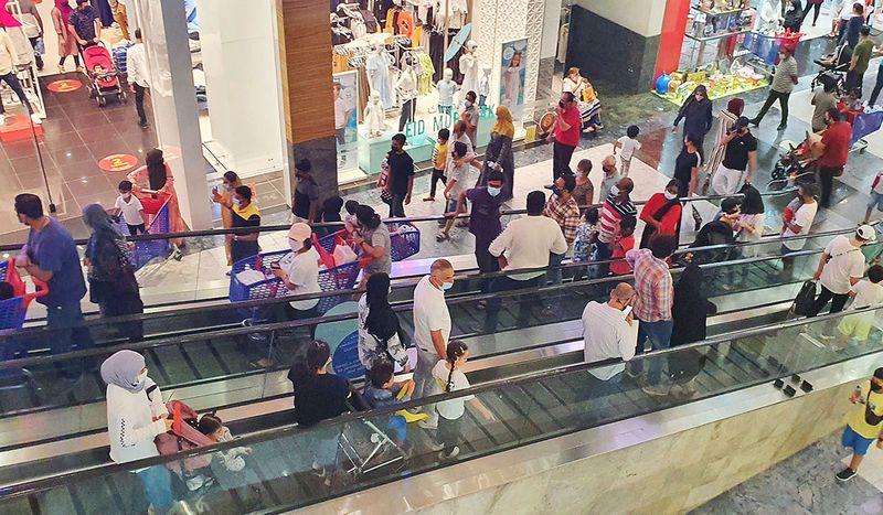 Shoppers throng the Mirdif City Centre for Eid Al Adha shopping.