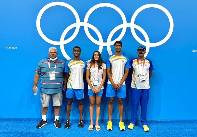 Olympics - Indian swimming contingent