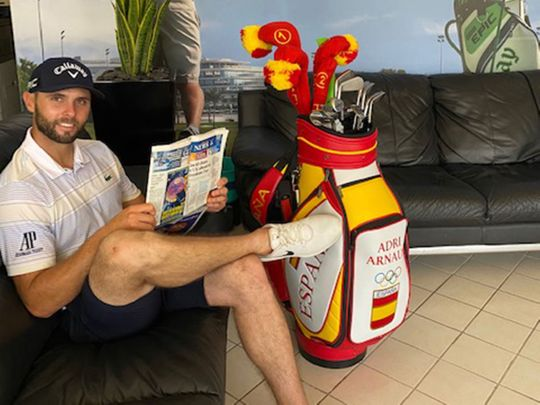 Adri Arnaus relaxes in Dubai ahead of his trip to the Tokyo Olympics 2020