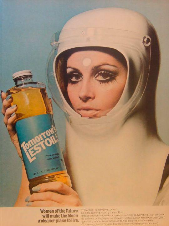 Lestoil advertising visual, 1968