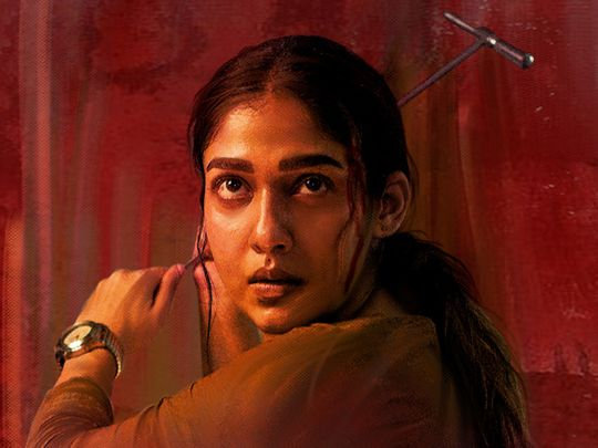 Nayanthara in the poster for 'Netrikann'