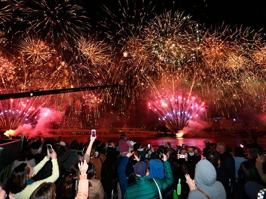People celebrate in Brisbane after the announcement by the International Olympic Committee that Brisbane has been chosen to host the 2032 Olympics.