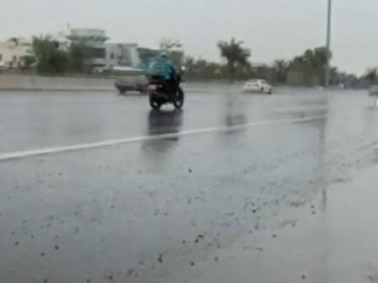 Rain in Abu Dhabi, UAE