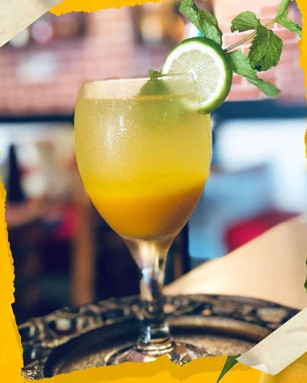 DHABA LANE: Beat the summer heat with a sweet and sour cooling drink called aam panna made from raw mangoes. DETAILS: Priced at Dh18.