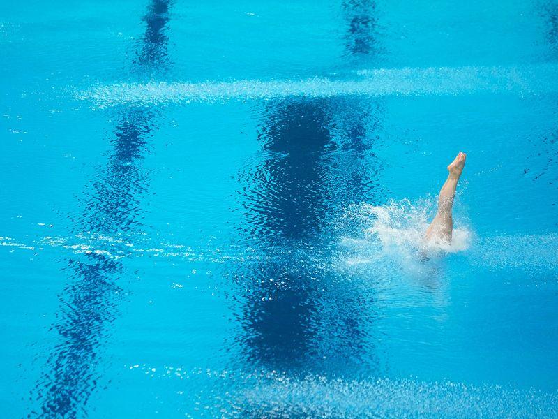 Diving Training  at the Tokyo Aquatics Centre