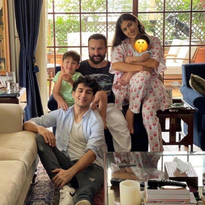 Sara Ali Khan with her family on Eid