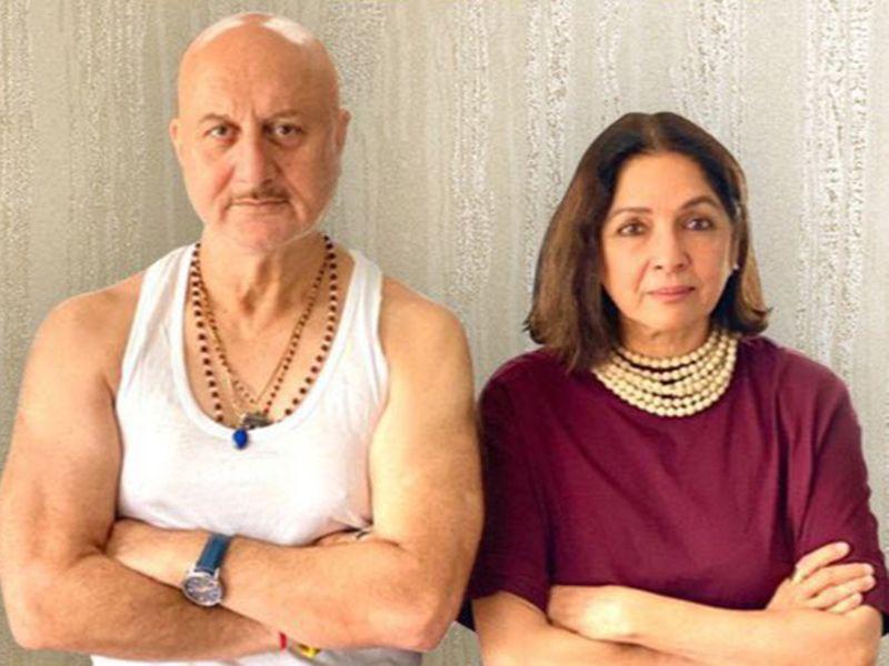 Anupam Kher and Neena Gupta in poster for 'Shiv Shastri Balboa'