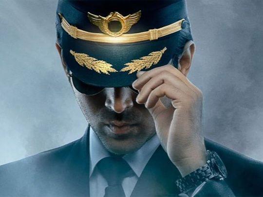 Kartik Aaryan in the poster for 'Captain India'