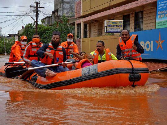 India flood Kolhapur NDRF