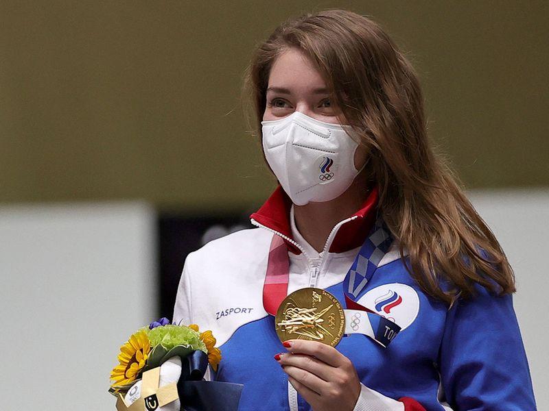 Gold medallist Vitalina Batsarashkina