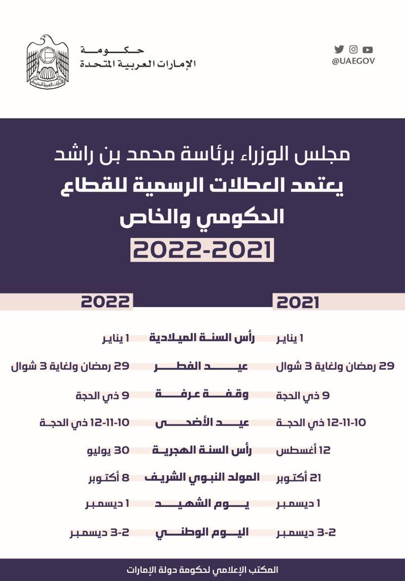 UAE public holidays