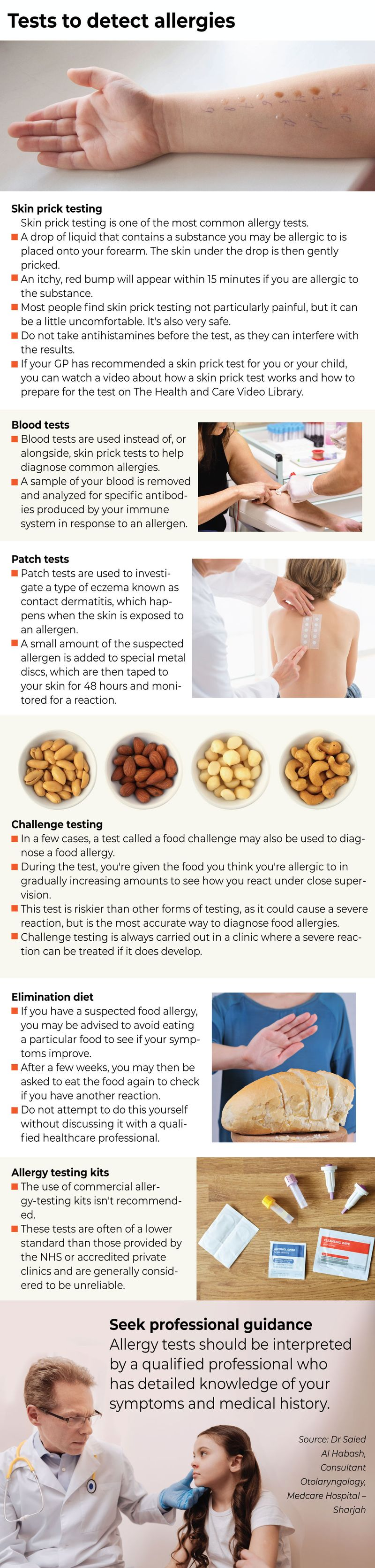 Allergy tests