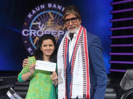Deepa Sharma with Amitabh Bachchan on 'Kaun Banega Crorepati'