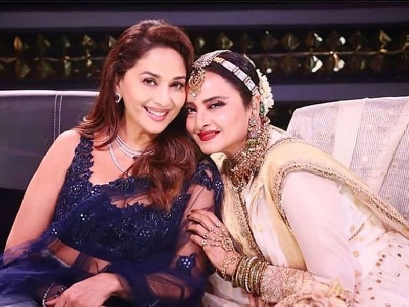 Madhuri Dixit and Rekha