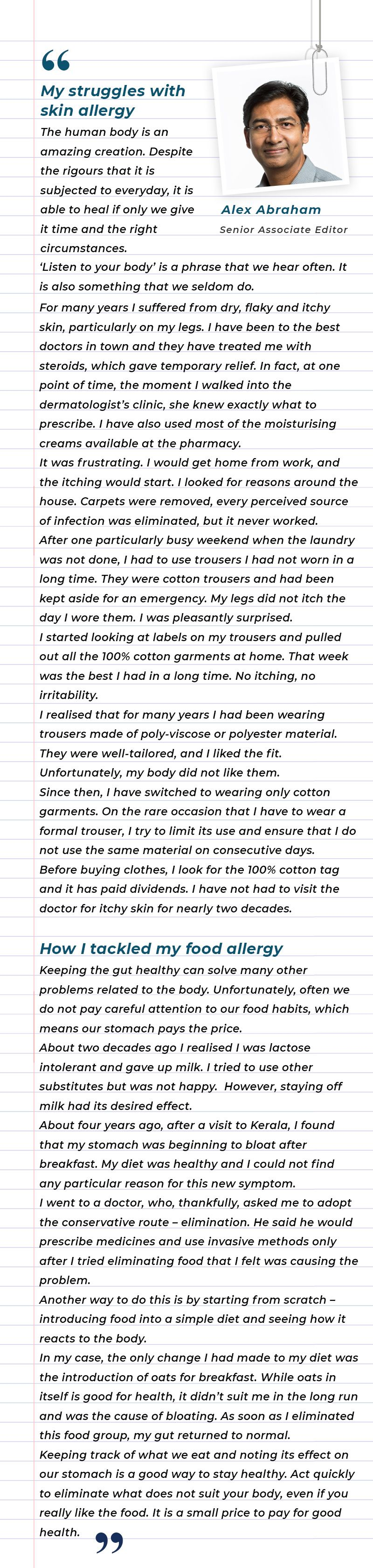 My struggles with skin and food allergies