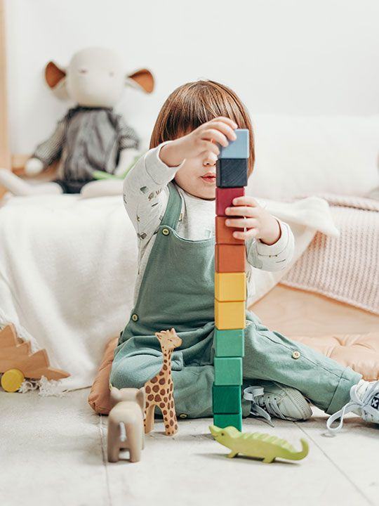 Playing with blocks