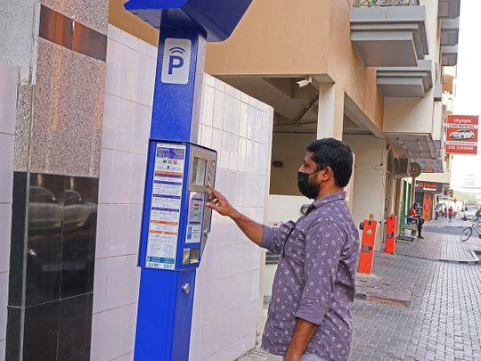 Stock RTA parking meter Dubai