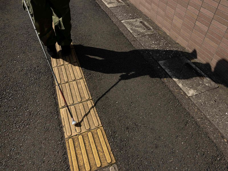 Visually impaired skateboarder Ryusei Ouchi