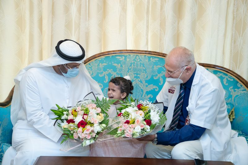 Video: Two-year-old Yemeni girl treated in Abu Dhabi hospital for rare congenital anomaly