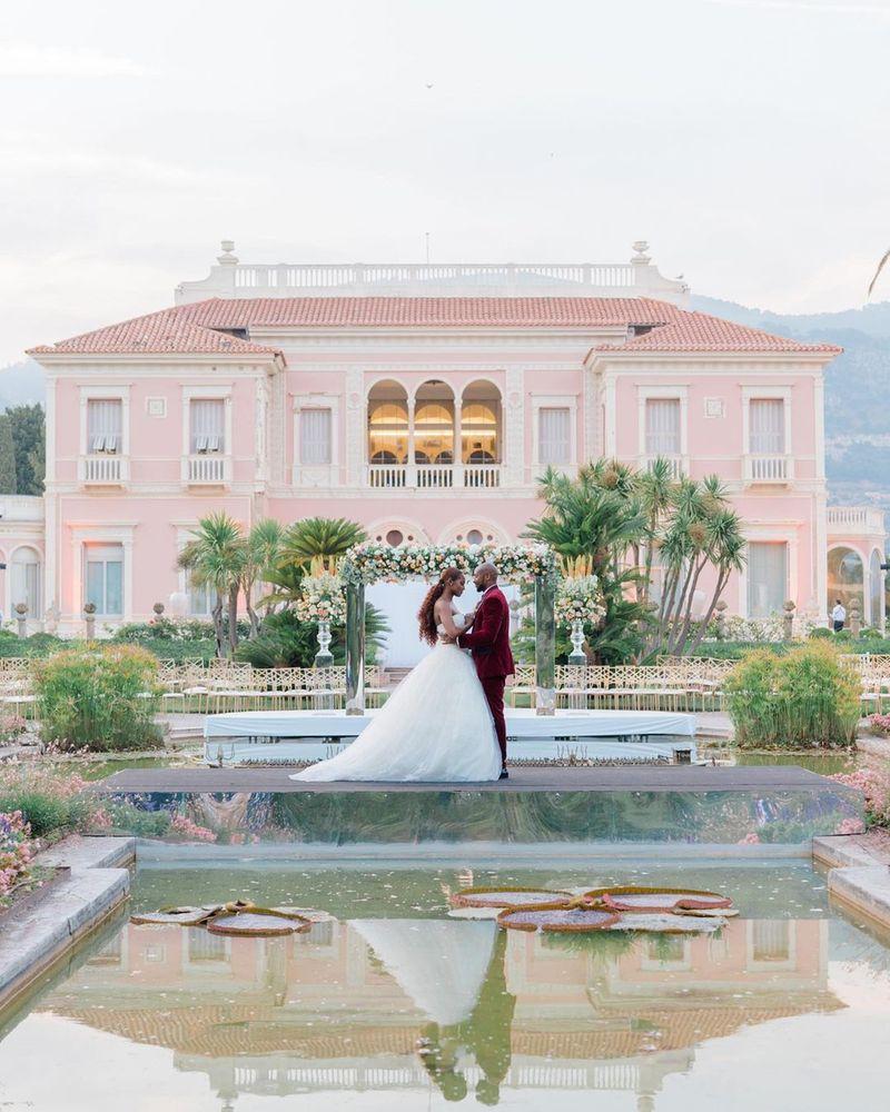 Issa Rae and Louis Diame at their wedding