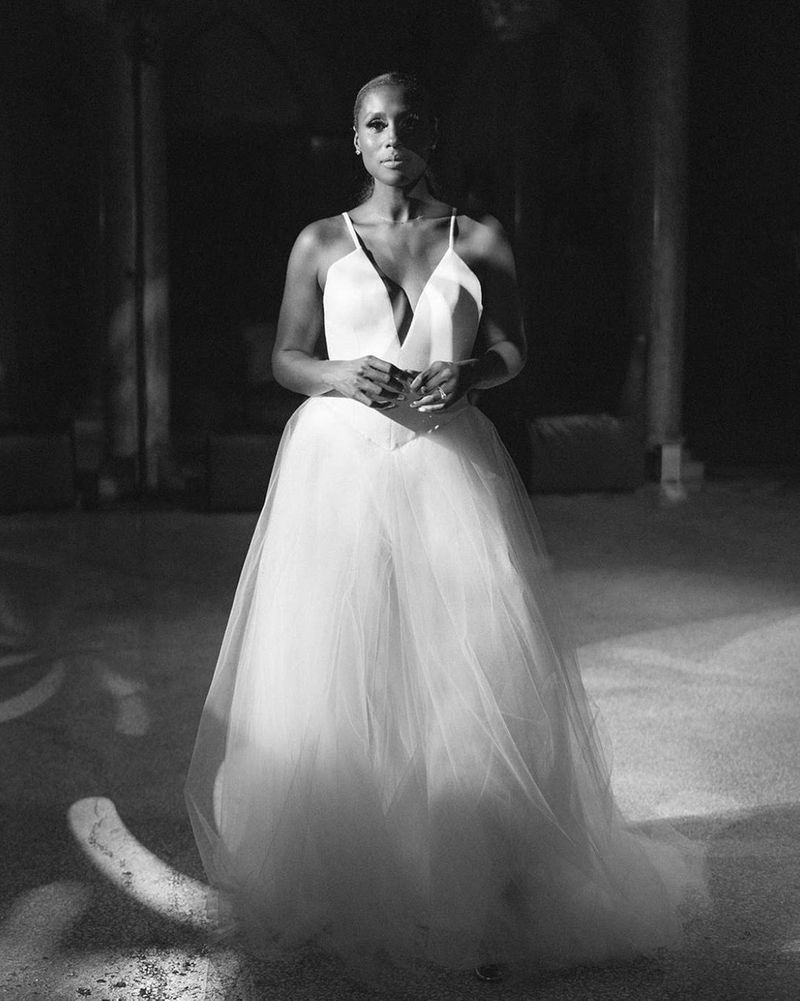 Issa Rae at her wedding reception