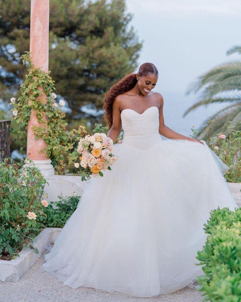 Issa Rae at her wedding