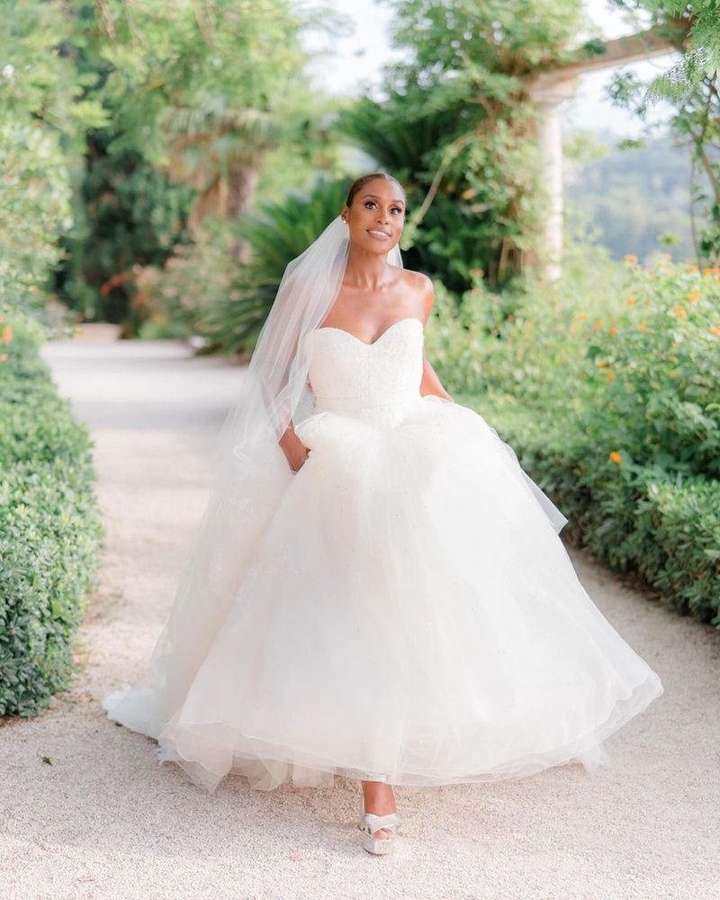 Issa Rae on her wedding day