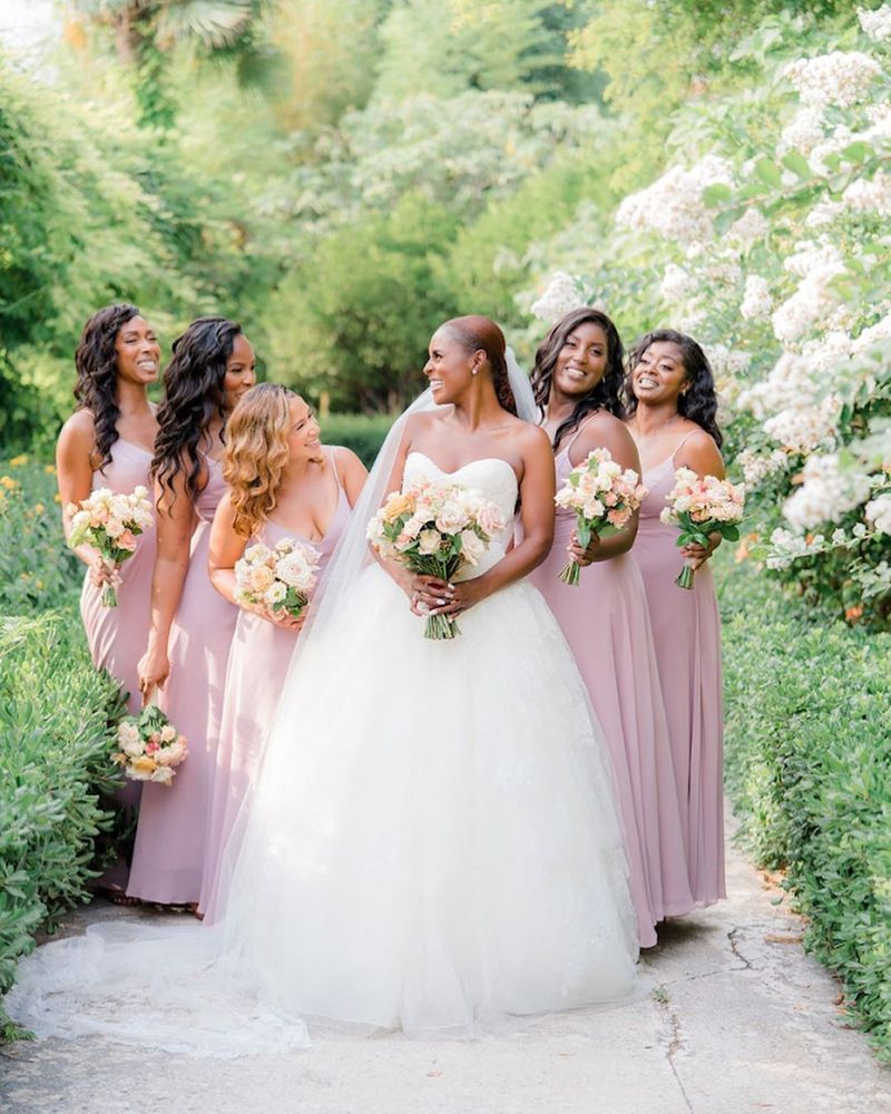 Issa Rae with her bridesmaids
