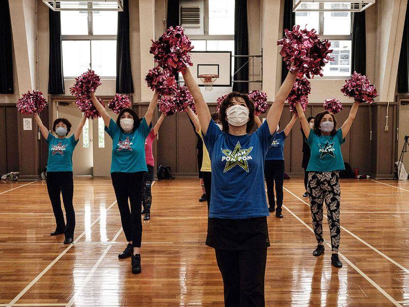 Pompom girls: Japan seniors find joy in cheerleading