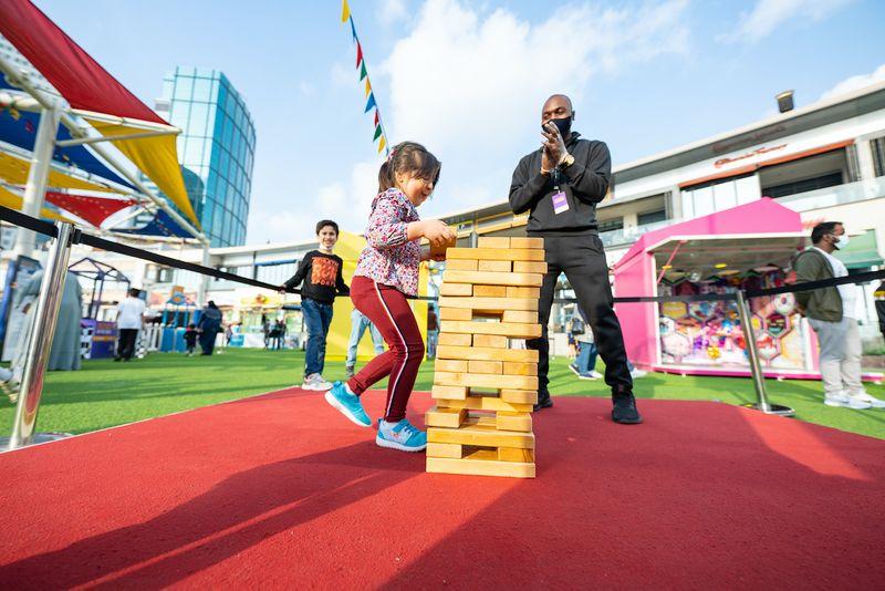 Kids playing Dubai Festival City