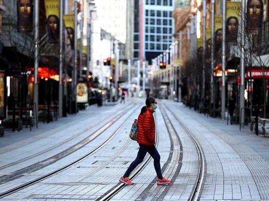 Sydney street covid empty Australia