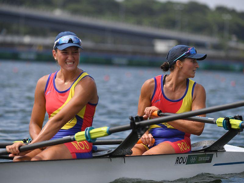 Ancuta Bodnar and Simona-Geanina Radis of Romania took gold
