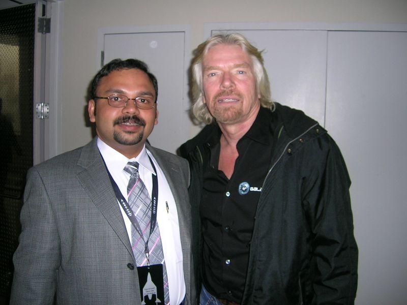 Santhosh Kulangara with Richard Branson
